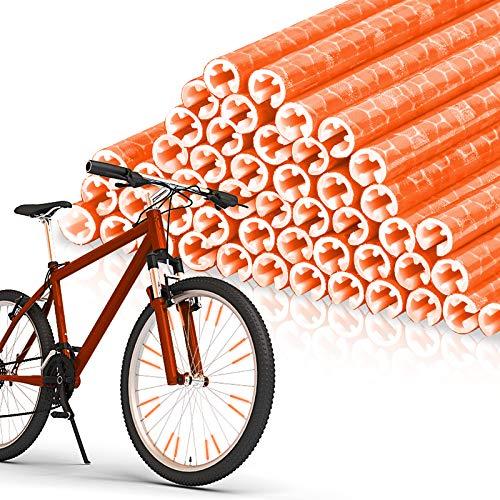EKKONG Réflecteurs de Rayons de vélo,48 pièces Lumiere Rayon Velo,5 Couleurs Reflecteur Rayon Convient à Tous Les Rayons de vélo Standard (Orange)