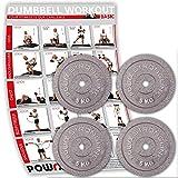 POWRX Hantelscheiben Set   verschiedene Gewichtsvarianten 5-40 kg   Gusseisen Gewichte   30 mm...