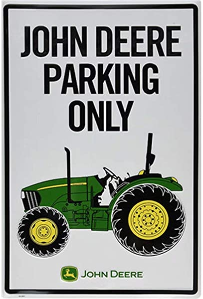 CBTsupply Metal Sign John Deere Parking ONLY Car Vintage Tin Wall Poster For Coffee Livingroom 30x20cm Plain Painting
