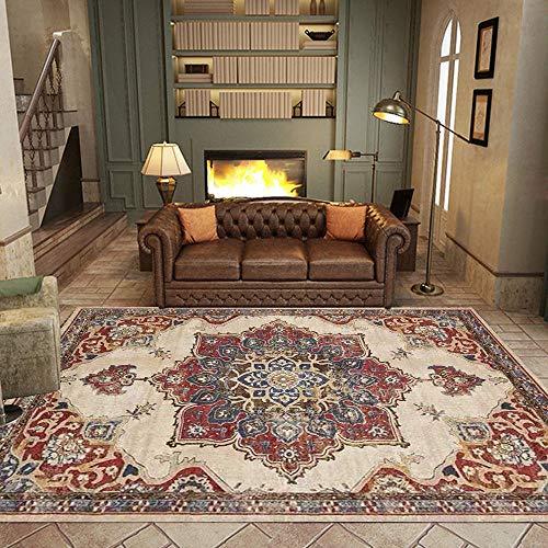 Teppich Modern Designer Teppiche Retro rot-brauner ethnischer Stil Schlafzimmer Zimmer Teppich Sofa Tisch Kind Krabbeln Matte 120x160CM (3ft11 x5ft3)