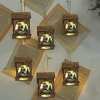 Lilideni 6 PCS DIY Árbol de Navidad Adornos colgantes