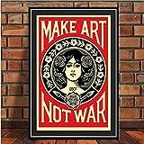 tgbhujk Posters and Prints Make Art Not War Pop Art Vintage