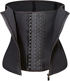 Amazingjoys Waist Trainer Corset for Weight Loss Tummy Control Body Shaper Neoprence Workout Sweat Belt Shapewear for Women