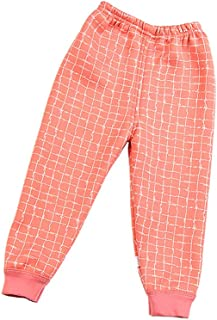 Infant Baby Girl Boy Winter Warm High Waist Sweatpants Toddler Cotton Active Elastic Pants Fleece Lined Leggings