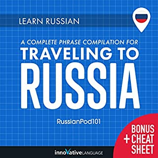Learn Russian: A Complete Phrase Compilation for Traveling to Russia audiobook cover art