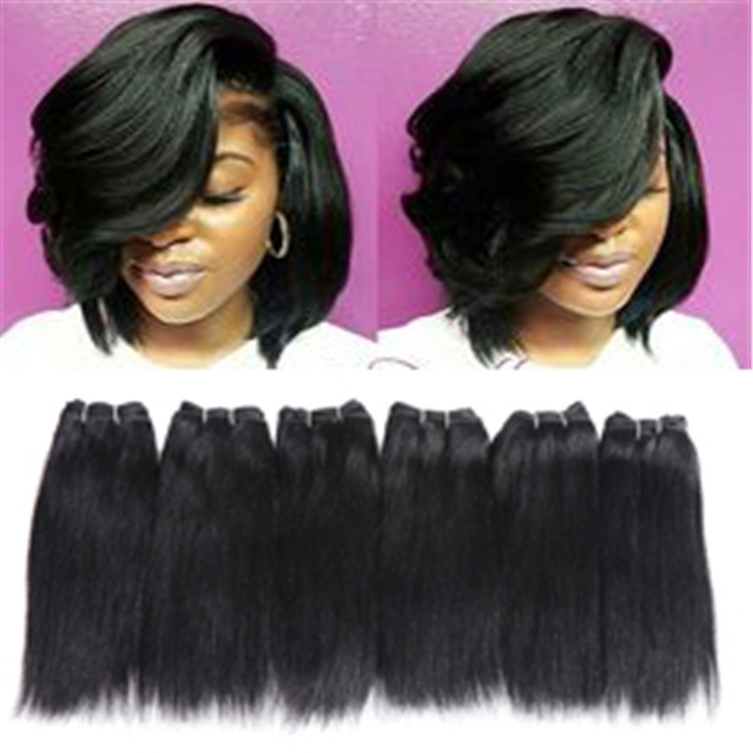 6 Bundles Extensions Hair Virg Human Clearance SALE! Limited time! Weave Seasonal Wrap Introduction Straight
