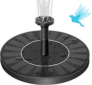 SEAST Solar Fountain, New Upgraded Solar Bird Bath Fountain Pump Floating 1.4W Solar Panel Kit Outdoor Watering Submersible Pump for Garden, Pond, Pool, Fish Tank, Aquarium