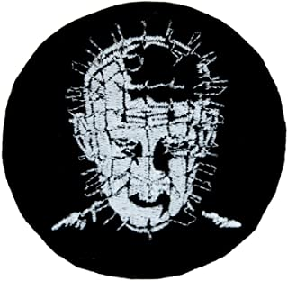 Pinhead Hellraiser Patch Iron on Applique Horror Clothing Cenobite Gothic Occult