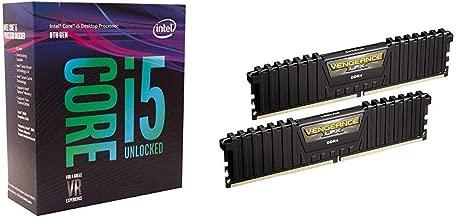 Intel Core i5-8600K Desktop Processor 6 Cores up to 4.3 GHz unlocked LGA 1151 300 Series 95W & Corsair Vengeance LPX 16GB DDR4 DRAM 3000MHz C15 Desktop Memory Kit - Black Bundle