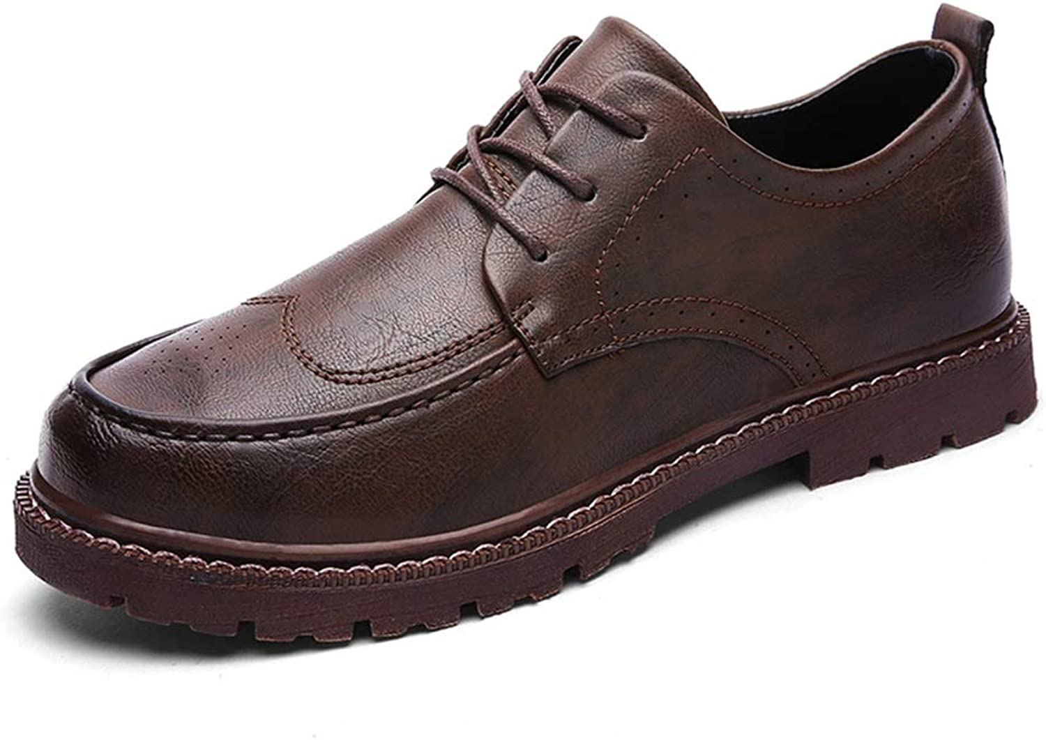 SRY-shoes Men's Simple Fashion Oxford Casual Classic Versatile Comfortable Round Toe Outsole Brogue shoes