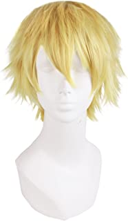 iLoveCos Men's Cosplay Wigs Layered Short Costume Wig Amnesia Toma Fancy Wigs Yellow