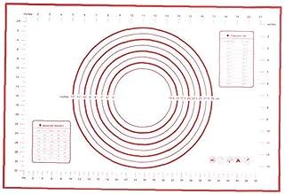 IUwnHceE 1 st silikonbakmatta pastrymatta med mät deg knådning kit non-slip knådning pad