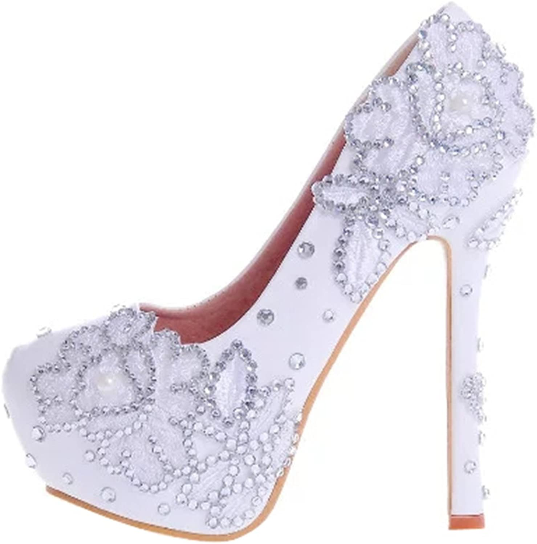 TDA Women's Elegant Wedding Party Dress Stiletto Pumps