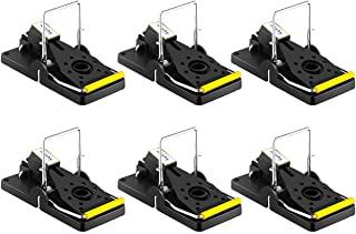 AKCHY Best Mouse Trap, Mouse Traps Quick Kill That Work, Best For Small Mice Mouse, Reuseable, Quick Response, Abs and Steel Material, Pack of 6