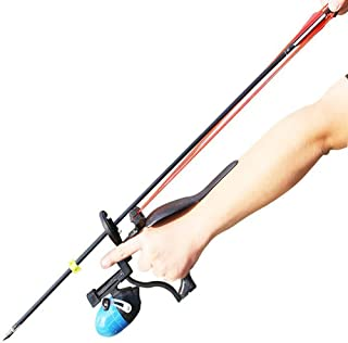 HBG New Fishing Slingshot Professional Outdoor Hunting Shooting Arrows and Steel Ball Sling Shot with 2 Rubber Bands,Arrow Brush,Fishing Reel
