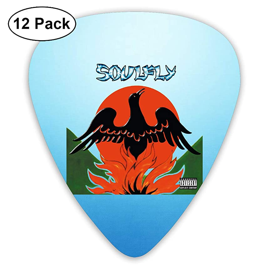 ElijahO Soulfly Primitive Celluloid Guitar Picks Plectrums (12 Pack) for Electric Guitar, Acoustic Guitar, Mandolin, and Guitar Bass