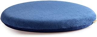 Sigmat Memory Foam Seat Cushion Anti-Slip Soft Round Stool Cushion Chair Pad 16 Inch Navy Blue