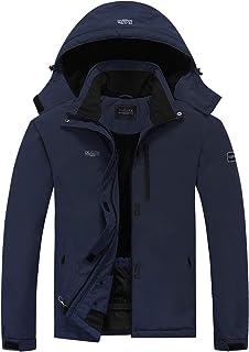 DLGJPA Men's Mountain Waterproof Ski Jacket Hooded Windbreakers Windproof Raincoat Winter Warm Snow Coat