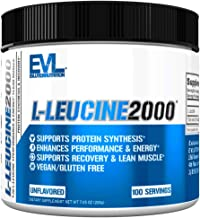 Evlution Nutrition L-Leucine2000, 2000mg of Pure L-Leucine in Each Serving, Protein Synthesis & Recovery, V...