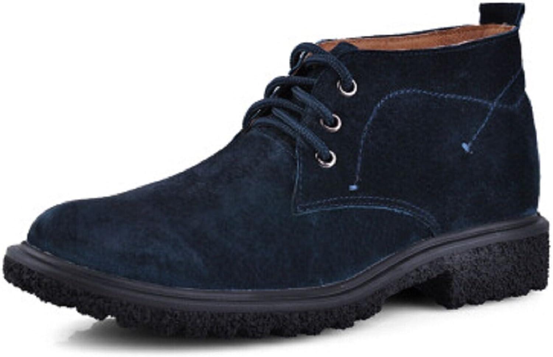 HAPPYSHOP(TM Men's Suede Leather Woolen Warm Winter Snow Boots Casual High shoes Short Boots
