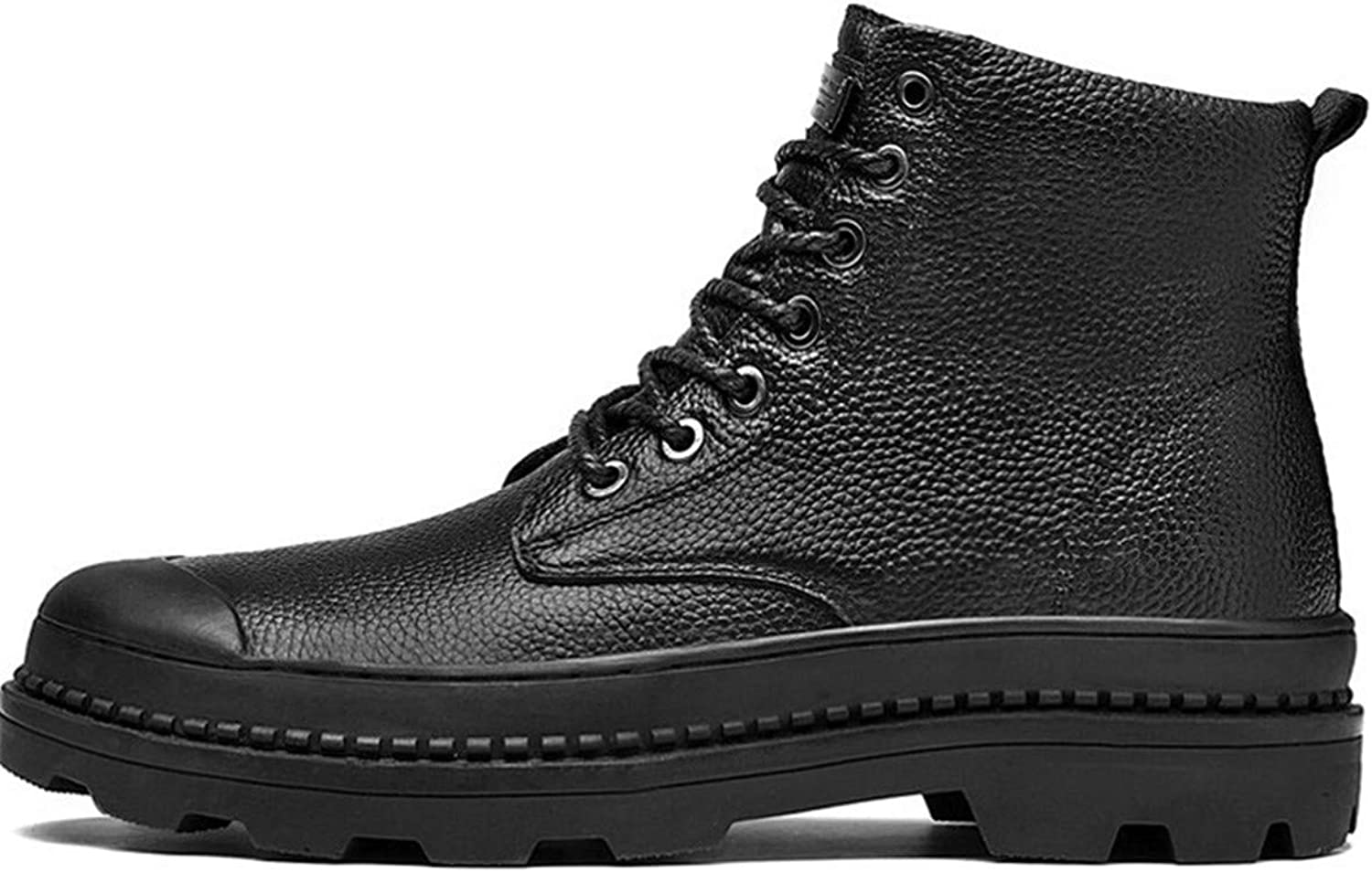 HHXWU Men's shoes Martin boots plus velvet leather tooling shoes snow boots outdoor large size