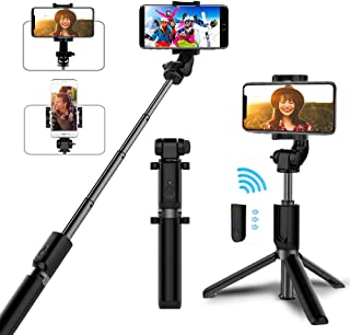 Selfie Stick Bluetooth, AYY Extendable Selfie Stick Tripod with Wireless Remote Selfie Stick for iPhone Xs/iPhone XR/iPhone Xs Max/iPhone X/iPhone 8/8 Plus/7/6, Galaxy S9/S9 Plus/S8/Note 8/Note 9