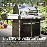 Weber 7371001 Summit E-670 6-Burner Liquid Propane Grill, Black