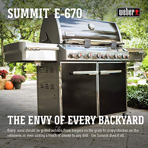 Weber 7371001 Summit E-670 6-Burner Liquid Propane Grill, Black - 12-Month a Assembly Day Dining Entertaining Father's Featured Features Financing for Free garden Gift Grill Grillmaster Grills Guide: Home in Kitchen lawn Outdoor Products Propane Service the UDS Weber with