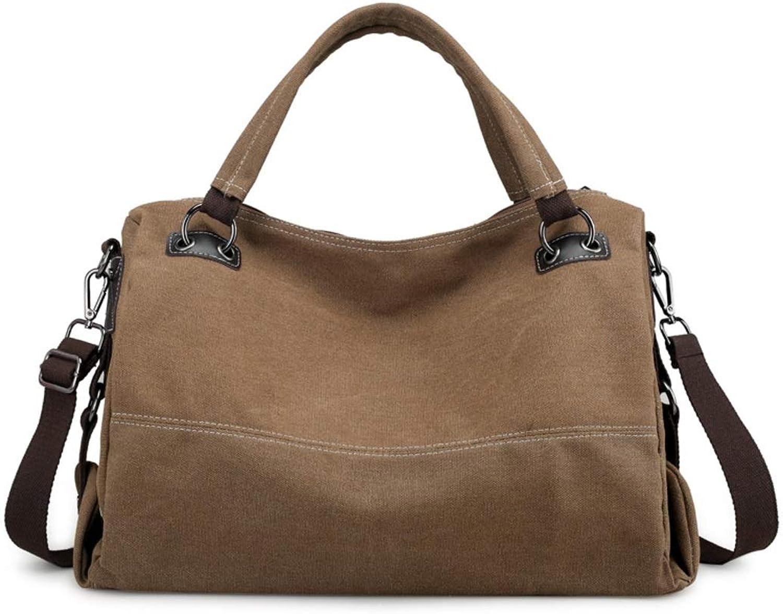 GSAYDNEE Frauen Canvas Hobo Handtaschen Big Casual Top Griff Tote Bag Crossbody Umhängetasche Reisetasche für Damen (Farbe   braun) B07PLHZPMY  Modern