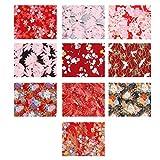 Artibetter 2 Juegos de Tela de Costura Hoja de Tela de Algodón Diy Telas de Flores de Estilo Japonés para Scrapbooking Materiales de Costura Acolchados (5Pcs / Set)
