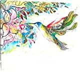 Pixxprint Kolibri Kunst Format: 120x80 auf Leinwand, XXL