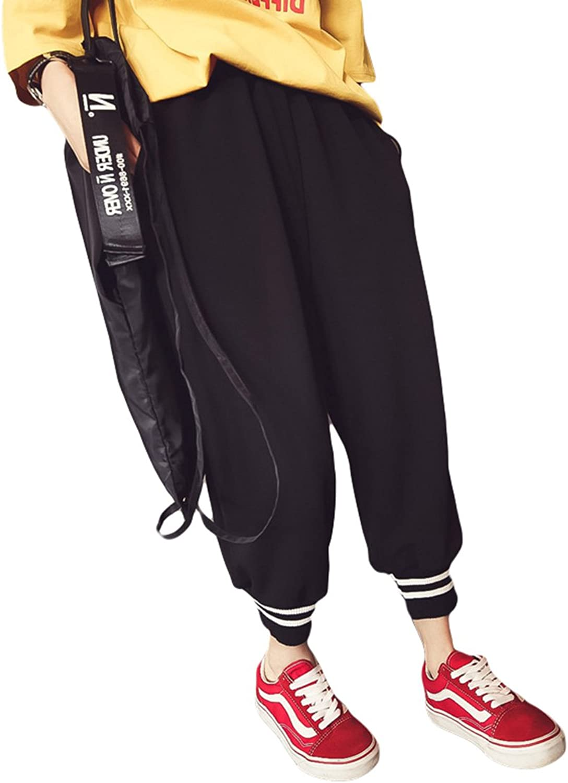 37804b50f9e9 HitZoom Women's Stylish Plus Loose Elastic Waist Jogger Harem Pants ...