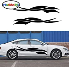 Car Sticker 2X Abstract Stripe Cross Ribbon Rising Sun and Happy Life Car Side Canoe Classic Vinyl Decal SUV Trailer 20035 cm Red