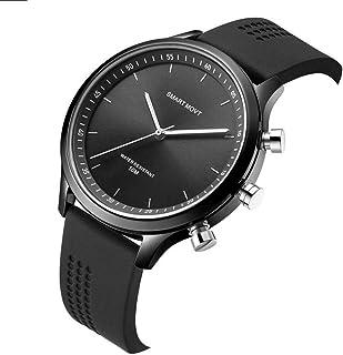 HBBOOI Inteligente, Reloj Inteligente Impermeable de Bluetooth Hombres Mujeres Profesional Deportes 5ATM con SOS Reloj de Cuarzo for iOS iPhone Android