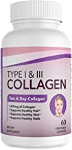 Dr.Colbert's Collagen Capsules - 600mg Type 1 & 3 Collagen Peptides in Veggie Capsules - 30 Day Supply - Made in USA - Supports Hair, Skin & Nails - Collagen Supplement