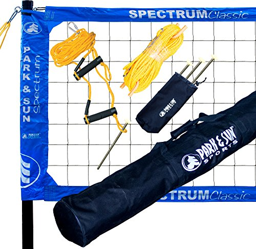 Park & Sun Sports Spectrum Classic: Portable Professional Outdoor Volleyball Net System, Blue