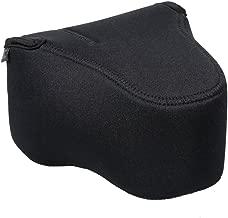 JJC Camera Case Pouch Bag for Canon 90D 80D 70D 60D + 18-135mm/55-200mm/17-85mm Lens,Nikon D7500 D7200 D7100 D750 D610 D600 D500 + 18-105mm/18-200mm Lens and Other Camera & Lens Below 5.8 x 4.4 x 7.4