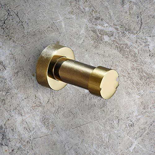 Moda Cuarto de baño creativo cocina de latón oro negro plata perforada fácil de instalar gancho de capa de pared 2pcs-C2 resistente a la corrosión fácil de limpiar e higiénico