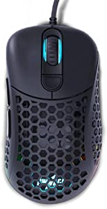Pwnage Ultra Custom Ergo: Ultralight Ergonomic Gaming Mouse - Flawless Pro Grade 3389 Optical Sensor- Flexible Paracord Cable - 100% PTFE Skates - Custom Weight as Low as 58 Grams
