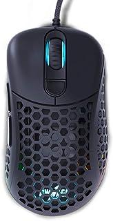 Pwnage Ultra Custom Ergo: Ultralight Ergonomic Gaming Mouse - Flawless Pro Grade 3389 Optical Sensor- Flexible Paracord Ca...