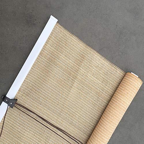 YUDEYU Schlagfrei Rollo Sonnenschutz HDPE Stoff Sichtschutz UV-Schutz (Color : Beige, Size : 1.5x1.8m)