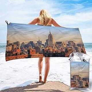 "Ahuimin Microfiber Bath Towel, American,New York City Skyline USA, 27.5"" x 55"" Super Absorbent Lightweight Microfiber Bath Towels for Travel Pool Gym"