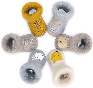 Calcetines Termicos de Felpa para Bebé Niño Lote de 6