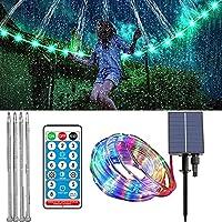 LEDトランポリンライト、屋外防水リモコンソーラーロープライト、8つの照明モードトランポリンリムデコレーション、クリスマス、ガーデン用の色を変えるフェアリーライト,300leds,98.4ft