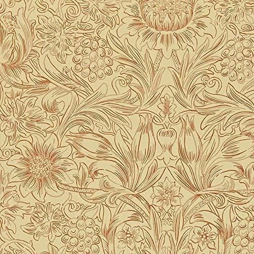 ウィリアムモリス壁紙 【サンフラワーW101】【dmorsu101】壁紙 ウォールペーパー クロス ファブリック 布 クラフトアーツ イギリス製