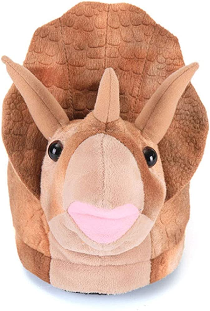 Max 43% OFF Animal Plush Slippers Triceratops Special sale item Koala Warm Cotton Winter Shoes