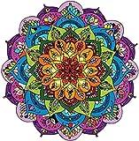 Divine Designs Pretty Rainbow Mandala Flower Vinyl Decal Sticker (4' Wide)