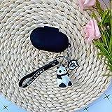 Xpccj Funda de silicona para auriculares Samsung Galaxy Buds/Buds+ Plus con Bluetooth para proteger los auriculares y accesorios Panda llavero decoración para auriculares (color: negro)
