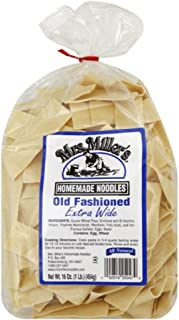 Mrs. Miller's Noodle, Extra Wide, Old Fashion, 16-Ounce (Pack of 6)