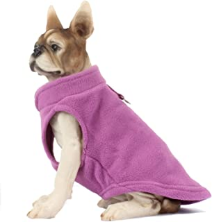 HAPEE Small Middle Dog Pullover Fleece Jacket with Leash Ring,Dog Winter Clothes Sweater